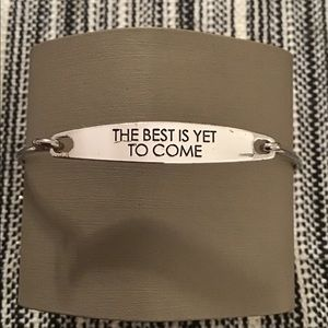 """The best is yet to come"" Silver Banner Bracelet"